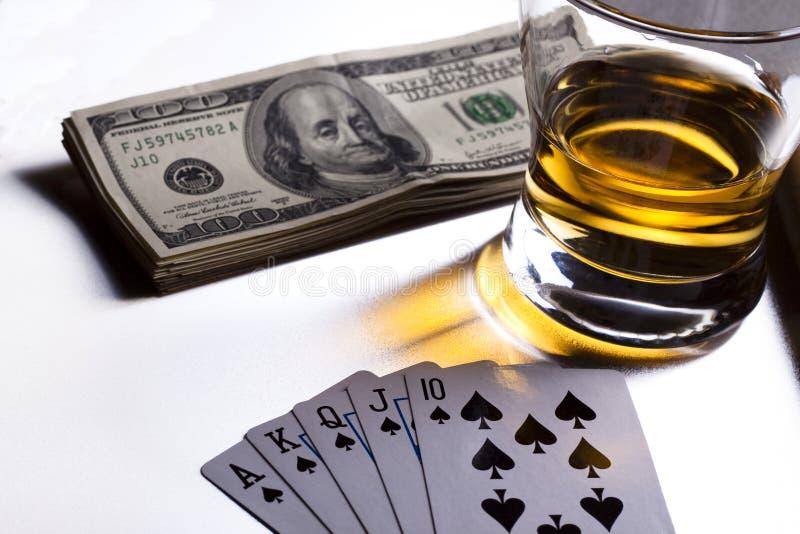 Noite do póquer fotografia de stock royalty free
