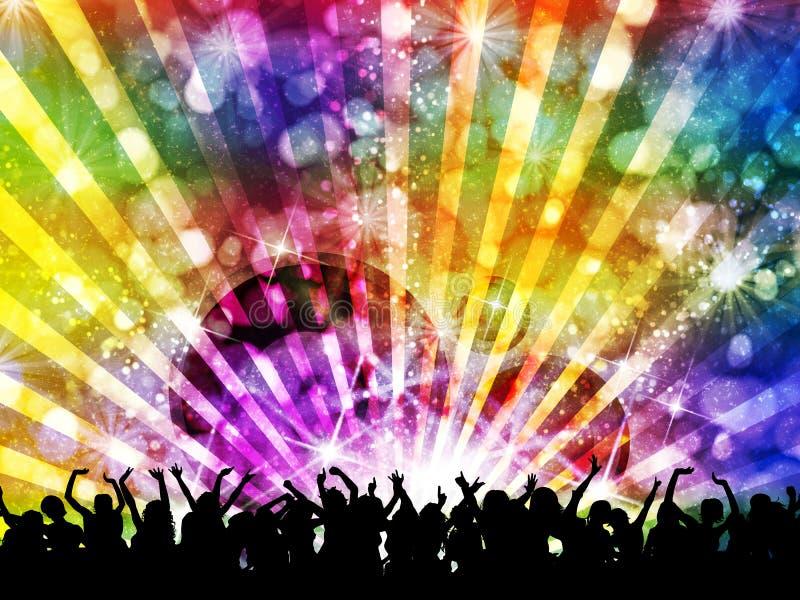 Noite do partido de disco do DJ ilustração stock