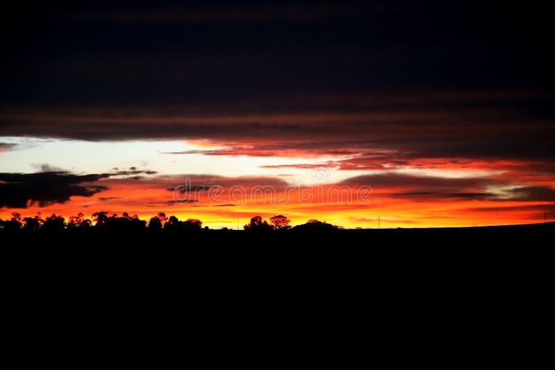 Noite do por do sol imagens de stock royalty free