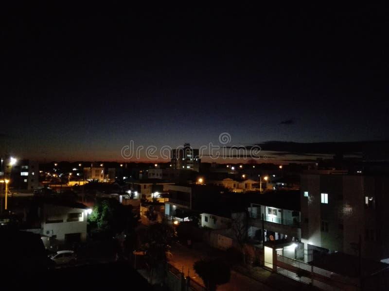 Noite do por do sol fotos de stock royalty free