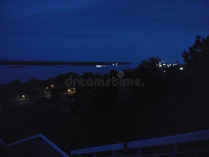 Noite do rio foto de stock royalty free