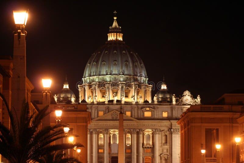 Noite do St. Peter (Roma-Italy) imagens de stock