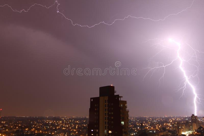 Noite do temporal fotografia de stock royalty free