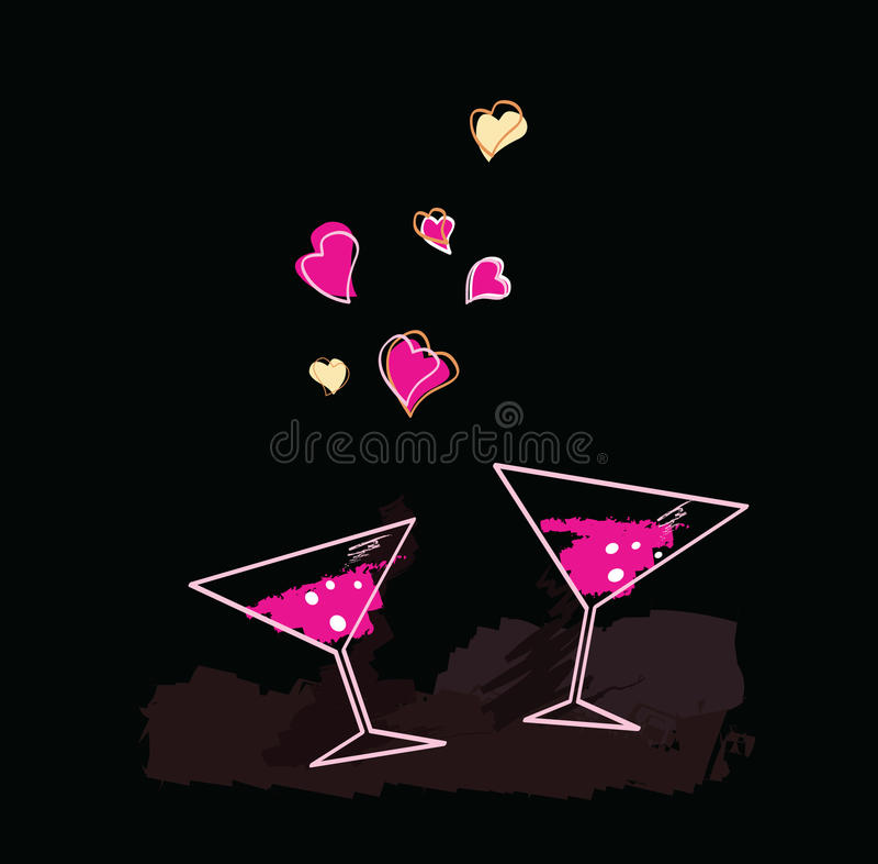 Download Noite do vinho ilustração do vetor. Ilustração de frasco - 10056417