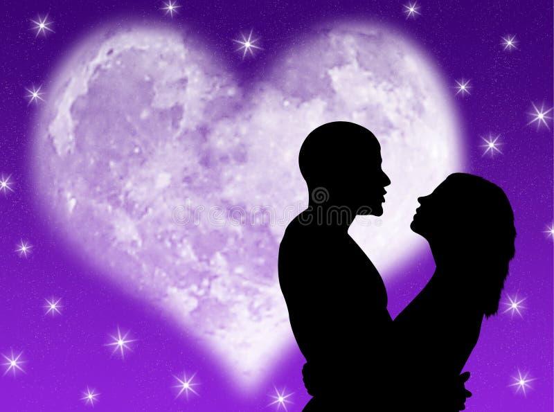 Noite dos amantes ilustração stock
