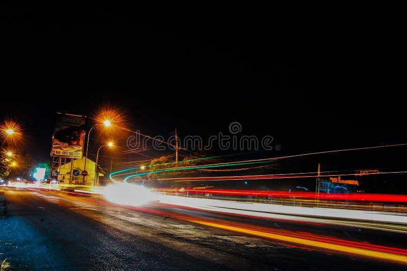 Noite e luz da rua imagens de stock