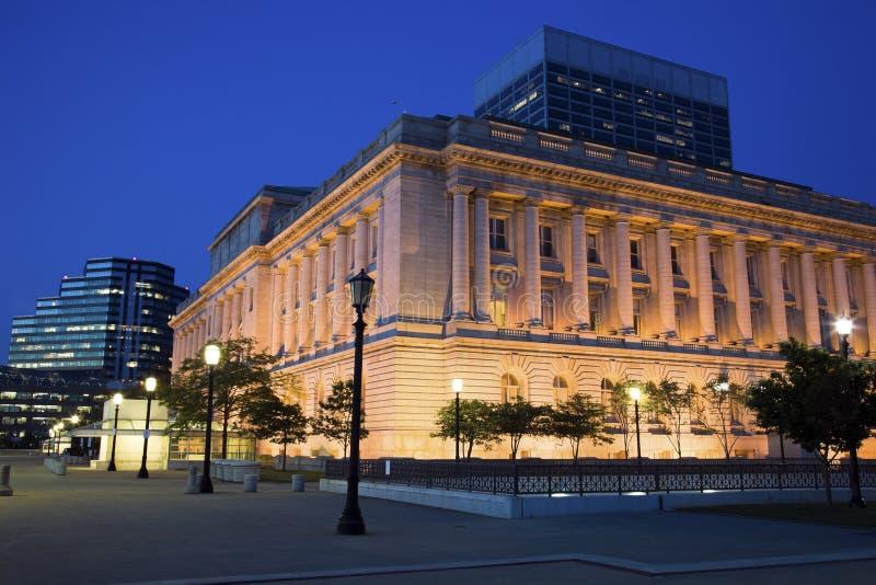 Noite em Cleveland imagem de stock