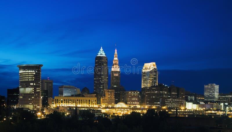 Noite em Cleveland fotos de stock