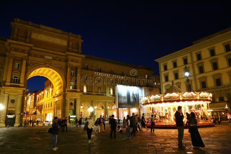 Noite em Florença foto de stock