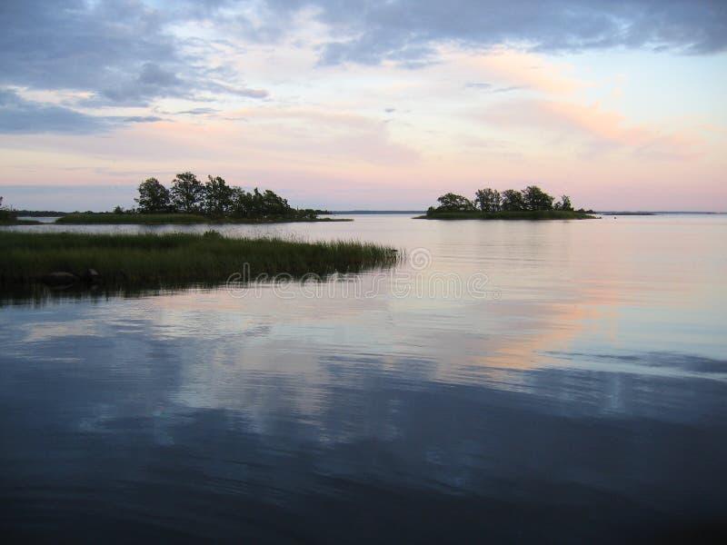 Noite em Kalmar imagens de stock