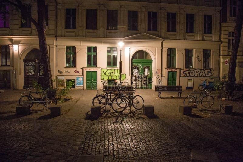 Noite em Kreuzberg fotografia de stock