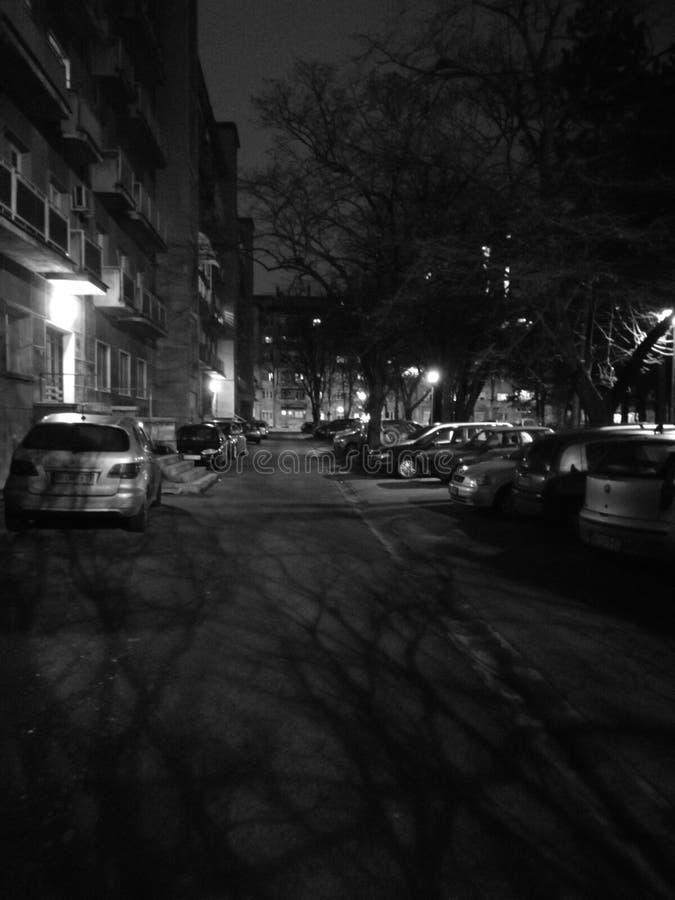 Noite em minha rua fotos de stock