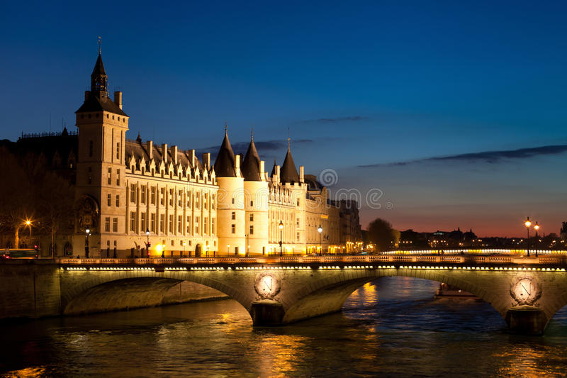 Noite em Paris fotografia de stock