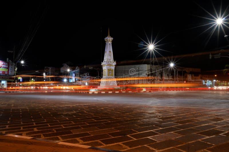 Noite em Yogyakarta foto de stock royalty free