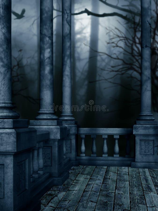 Noite escura ilustração stock