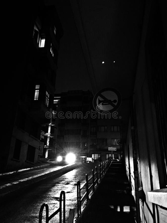 Noite escura imagens de stock royalty free
