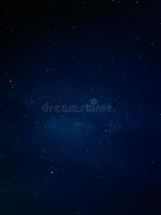 Noite escura com estrelas fotos de stock