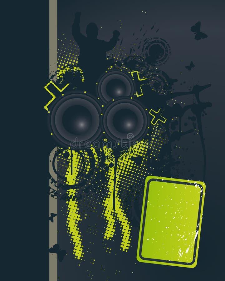 Noite escura da música ilustração royalty free