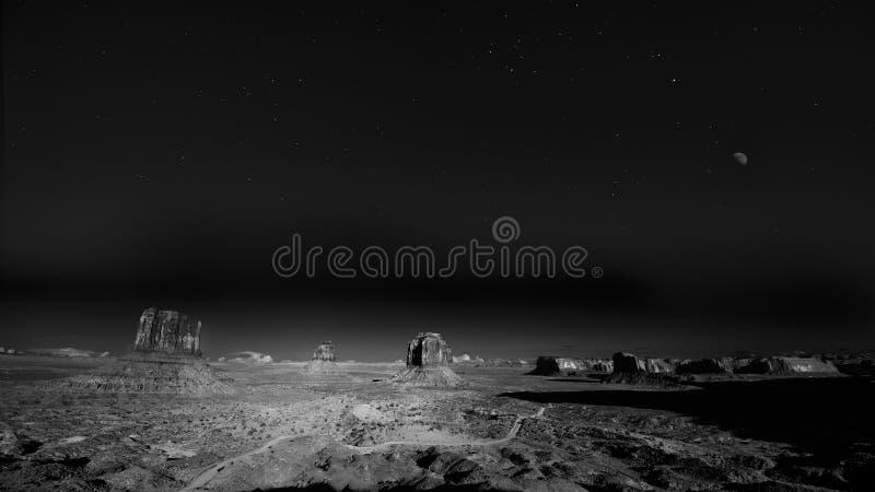 Noite espetacular no vale do monumento foto de stock