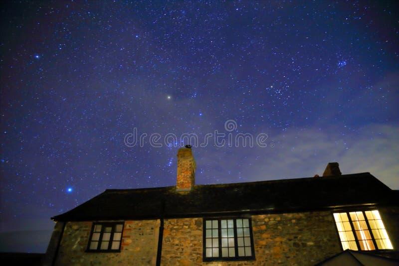 Noite estrelado foto de stock