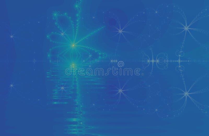 Noite estrelado azul imagem de stock