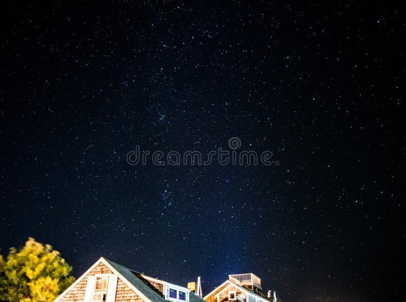 Noite estrelado em Nantucket imagem de stock