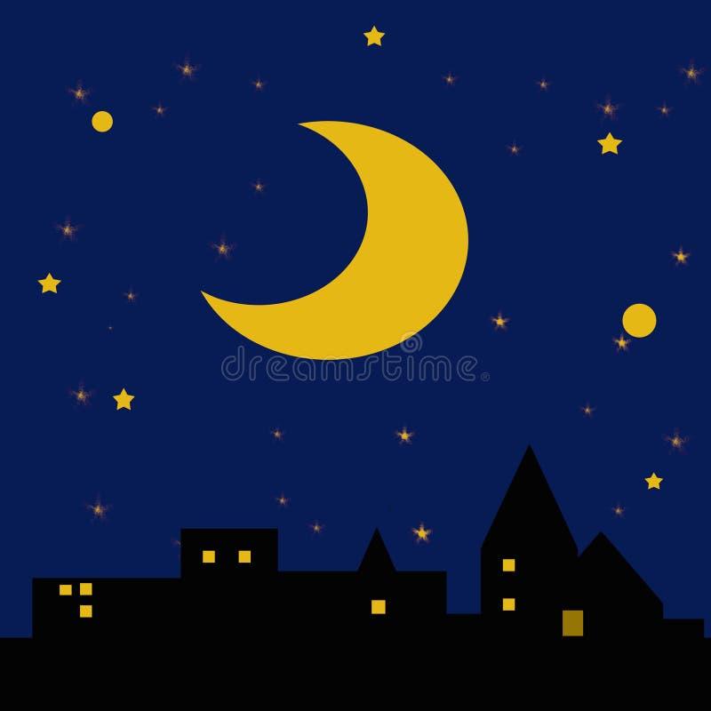 Noite estrelado estrelado ilustração do vetor