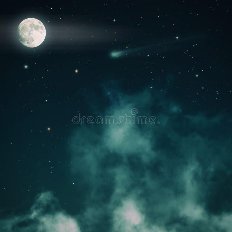 Noite estrelado, noite assustador fotografia de stock royalty free