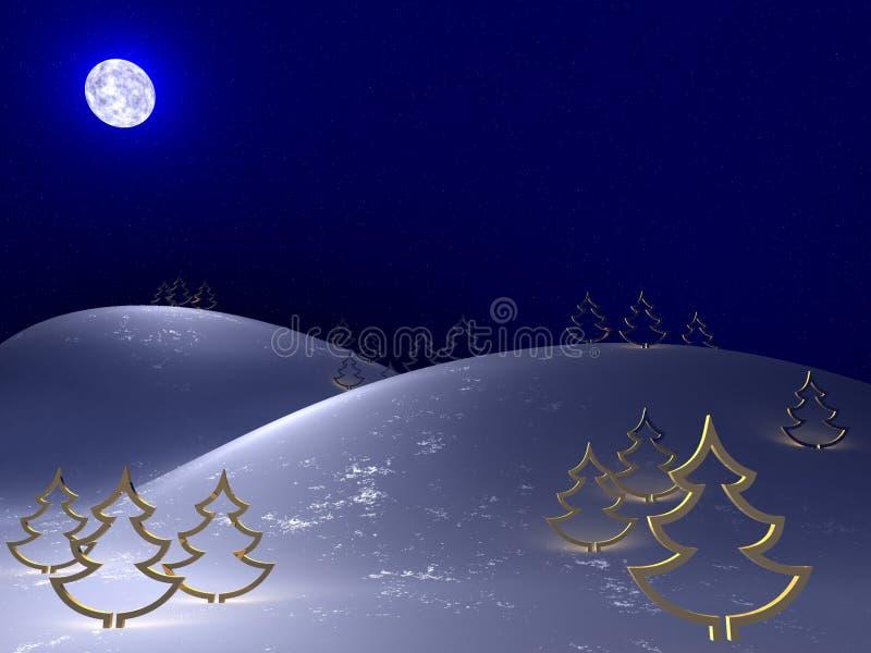 Noite fria do inverno ilustração stock