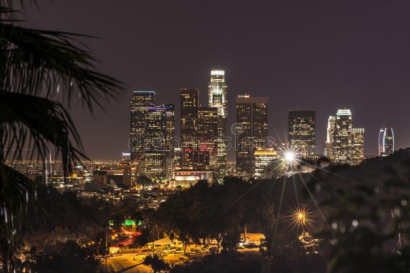 Noite Los Angeles, Califórnia imagens de stock royalty free