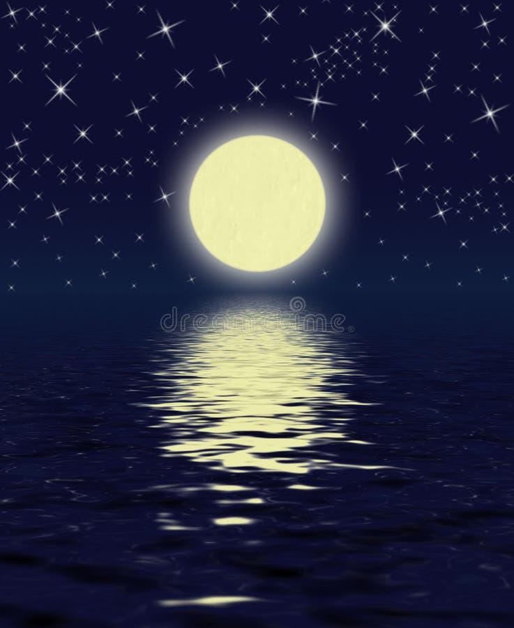 Noite mágica ilustração do vetor