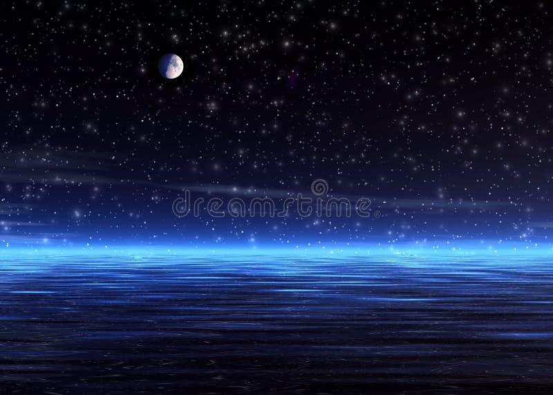Noite mágica. ilustração royalty free