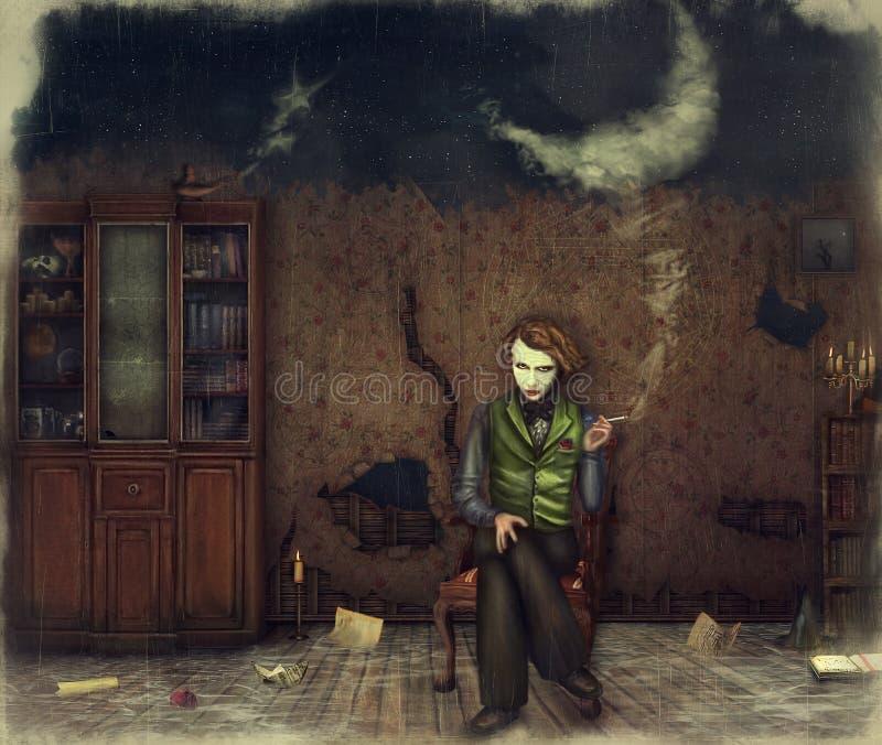Noite mágica ilustração royalty free