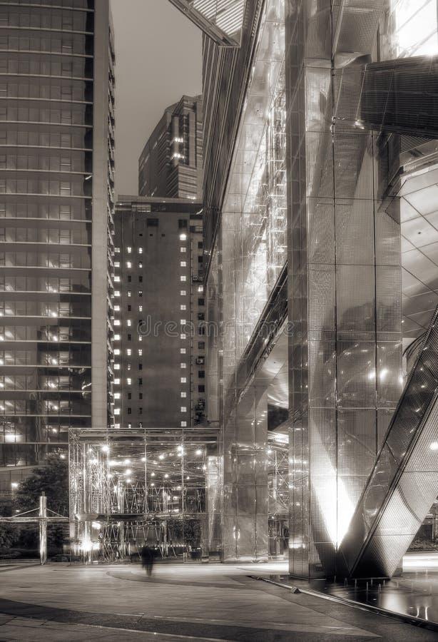Noite moderna da cidade imagem de stock royalty free