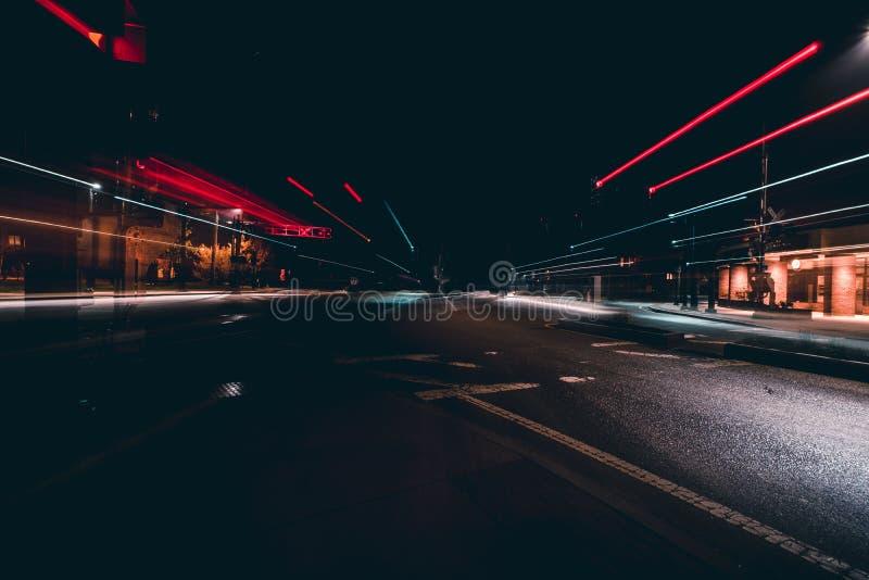 Noite, modo de transporte, céu, luz foto de stock royalty free