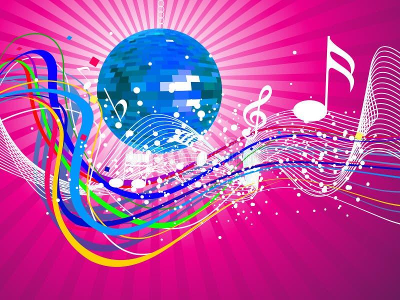 Noite musical colorida abstrata ilustração do vetor