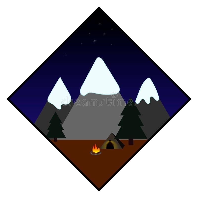 Noite nas montanhas fotografia de stock royalty free