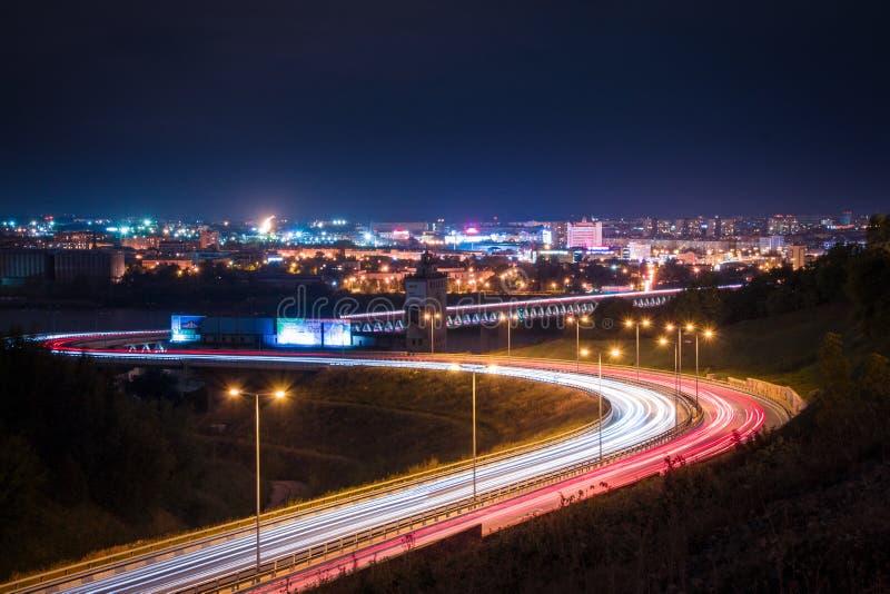 Noite Nizny Novgorod foto de stock royalty free