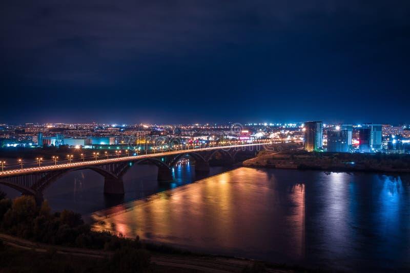 Noite Nizny Novgorod fotografia de stock royalty free