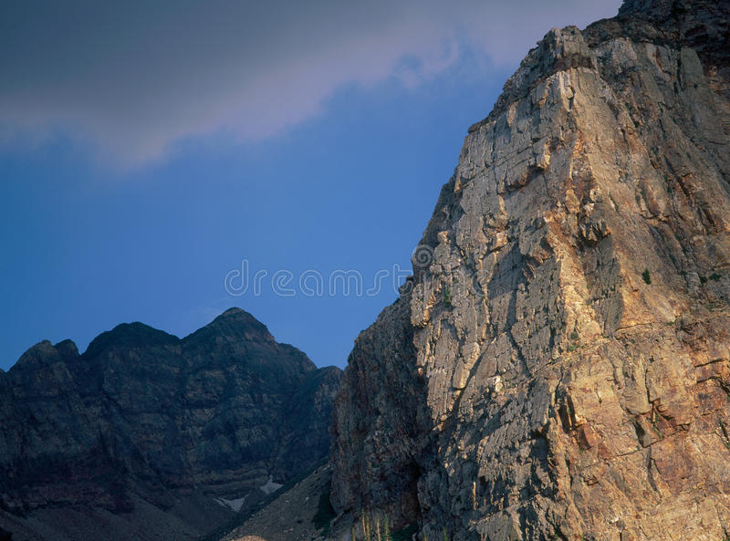 A noite no gêmeo repica a região selvagem, escala de Wasatch, Utá fotografia de stock royalty free