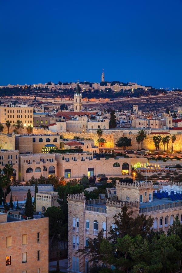 Noite no Jerusalém foto de stock royalty free