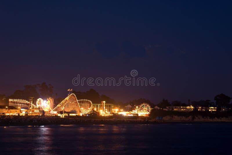 Noite no passeio à beira mar da praia de Santa Cruz fotos de stock royalty free