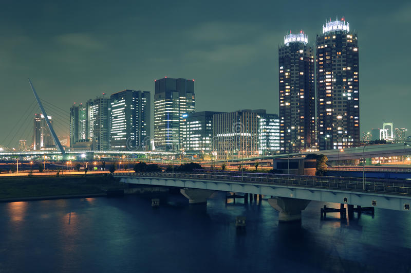 Noite Odaiba, Tokyo foto de stock royalty free