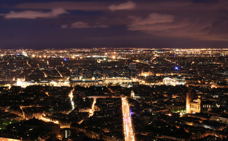 Noite Paris imagem de stock
