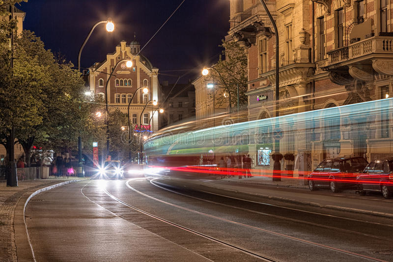 Noite Praga fotografia de stock royalty free