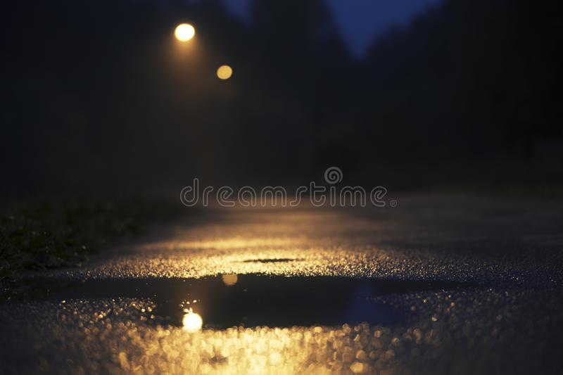 Noite que incandesce no exterior fotos de stock royalty free