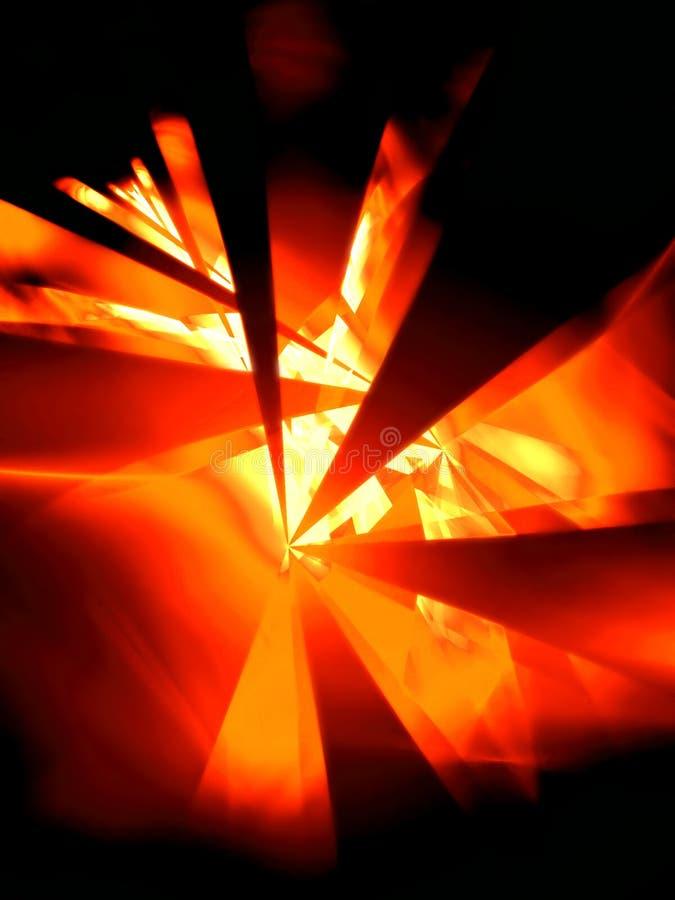 Noite quente - ilustração do fractal 3D ilustração do vetor
