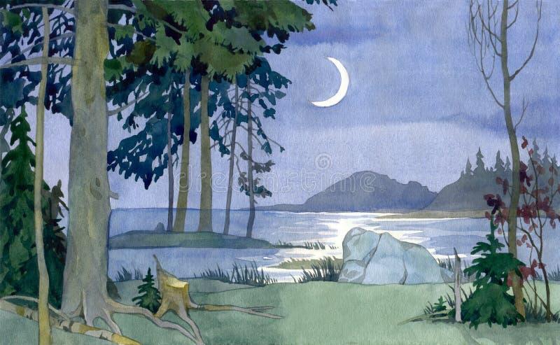 Noite silenciosa ilustração do vetor