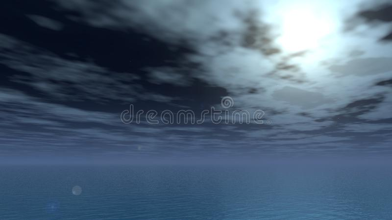 Noite calma da lua fotografia de stock