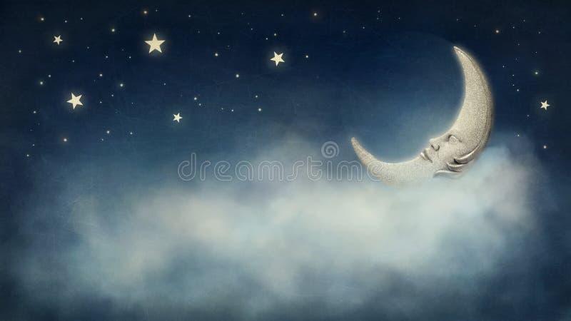 Noite sonhadora imagens de stock